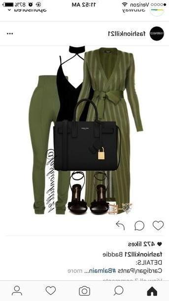 Leggings Pants Green Pants Cardigan Long Cardigan Leggings Green Party Outfit Party Outfits Sey Sey Outfits Summer Outfits Spring Outfits Fall Outfits Winter Outfits Classy Cute Girly Date Outfit Clu cover image