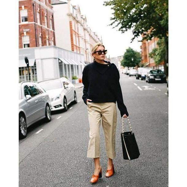 Pants Beige Pants Tumblr Sweater Weather Sweater Black Sweater Nude Pants Flare Pants Cropped Pants Bag Black Bag Sunglasses Black Sunglasses Shoes Fall Outfits cover image