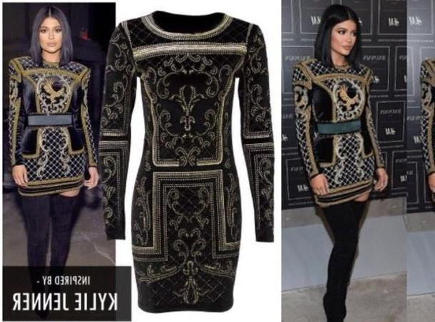 Kylie-jenner Dress Black Dress Caviar Beaded Dress Black Body Kylie Jenner cover image