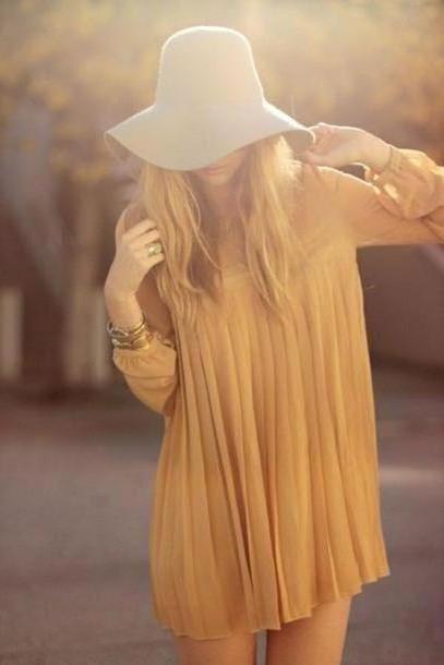 Dress Beige Dress Hat cover image