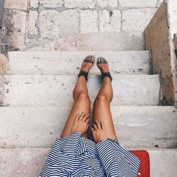 Stripes Shoes Black Shoes Tumblr Sandals Studded Sandals Black Sandals Mid Heel Sandals Dress Stripes Striped Dress cover image