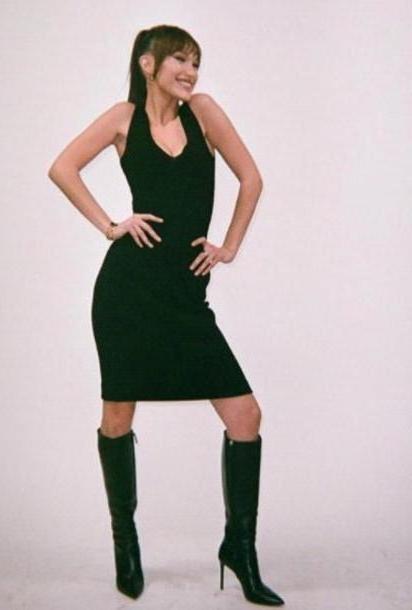 Bella-hadid Dress Black Dress Black Bodycon Bella Hadid Little Black Dress Midi cover image
