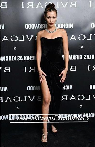 Bella-hadid Dress Black Dress Bella Hadid Prom Dress Sey Party Dresses cover image