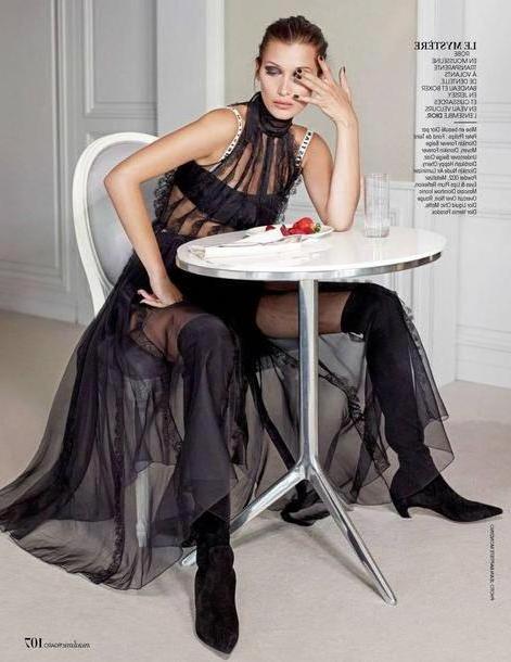 Bella-hadid Dress Black Dress Tulle Skirt Tulle Dress Black Dress Black Boots Editorial Model Bella Hadid cover image