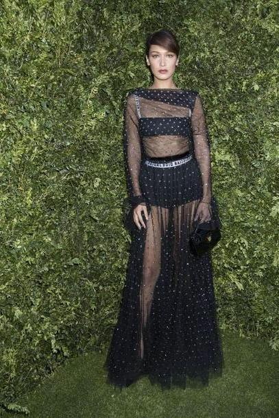 Bella-hadid Dress Black Dress Gown Prom Dress  Dress Bella Hadid Model Paris Fashion Week      Dior Fashion Week      Underwear Bralette Bra cover image