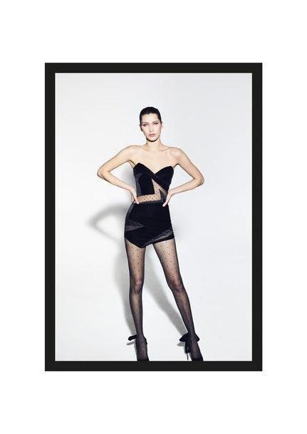 Bella-hadid Dress Black Dress Aleandre Vauthier Mini Dress Black Dress Bustier Dress Tights Bella Hadid Paris Fashion Week      Fashion Week cover image