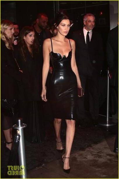 Bella-hadid Dress Black Dress Bella Hadid Late cover image
