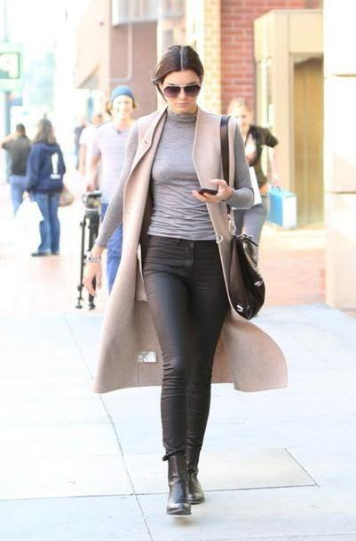 Kendall-jenner Shoes Black Shoes Black Boots Ankle Boots Leather Kendall Jenner Streetstyle Casual Jeans cover image