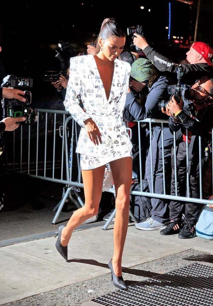 Kendall-jenner Shoes Black Shoes Skirt Jacket Blazer Kendall Jenner Kardashians Celebrity Mini Skirt cover image