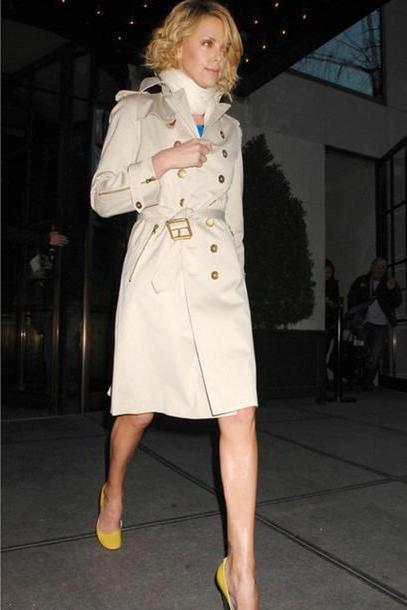 Coat Beige Coat Trench Charlize Theron cover image