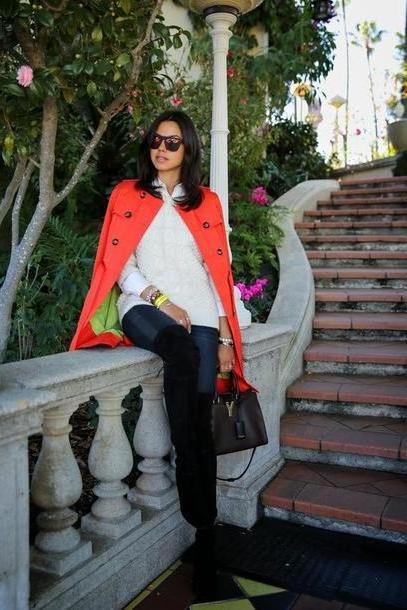 Coat Orange Viva Luury Coat Jeans Sweater Shoes Bag Jewels cover image