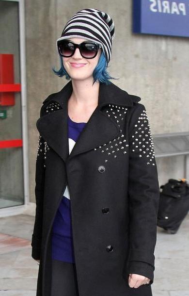 Coat Black Coat Katy Perry Studs cover image