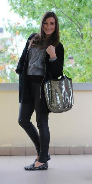 Coat Black Style Trouble Coat Pants Sweater Shoes Bag Jewels cover image