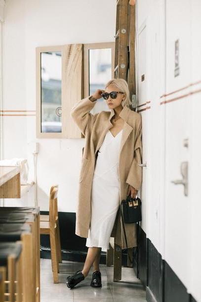 Coat Gold Haute Pursuit Blogger Coat Dress Shoes Bag Sunglasses Jewels cover image
