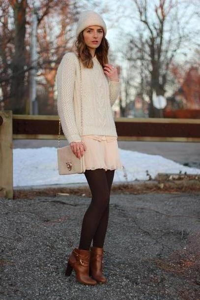 Dress Beige Jess Style Rules Shoes Bag Dress Blouse Sweater Coat Scarf Hat cover image