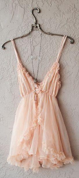 Lingerie Dress Neutrals Dress Peach Lingerie Babydoll Babydoll Lingerie Slip Dress Tulle Dress Rosette Dress cover image
