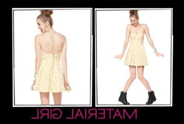 Dress Beige Dress Material Girl Yellow Summer cover image