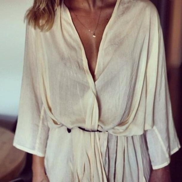 Dress Beige Dress Bone White Blouse  White Cream Blouse Cute Summer Fashion Lace Beige Tan Brown Chiffon Romper Pantsuit Jumpsuit Nude Gold Tumblr Pretty Shorts Girly Chic Fashionista Flower cover image
