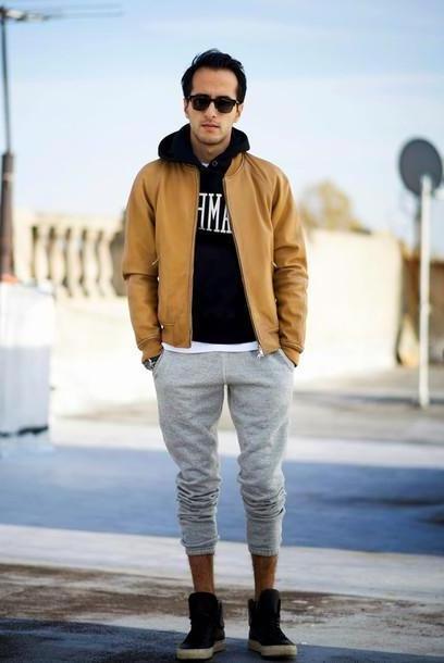 Jacket Beige Metro Man Blogger Jacket Mens Jacket Grey Sweatpants Menswear Mens Shoes Mens Hoodie cover image