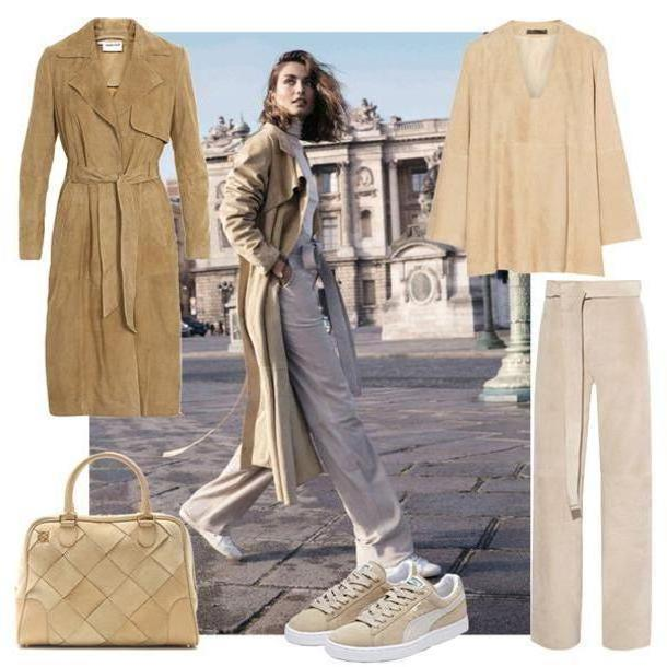 Pants Beige Look Pernille Blogger  Bag Coat Pants Shoes cover image