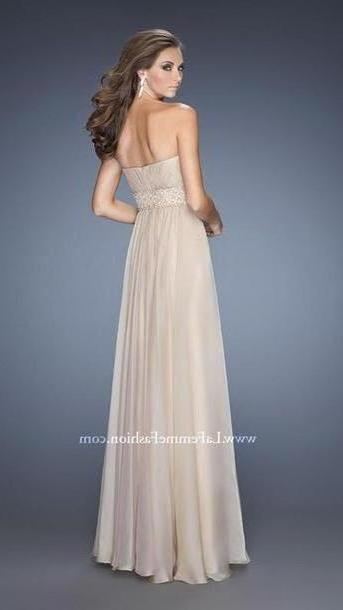 Dress Beige Dress Beige Dress Long Prom Dresses cover image