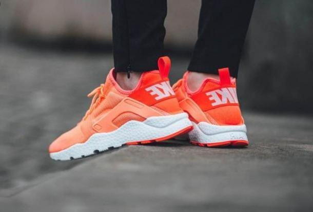 Orange Shoes Orange Shoes Nike Nike Shoes Sneakers Orange Nike Air Huaraches Huarache cover image