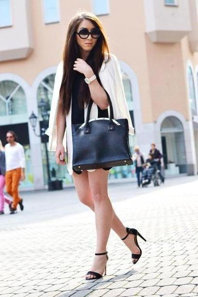 Dress Beige Flirting Fashion Jacket Dress Shoes Bag Sunglasses Jewels cover image