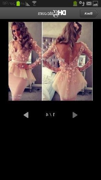 Dress Beige Dress Pink Floral Homecoming cover image