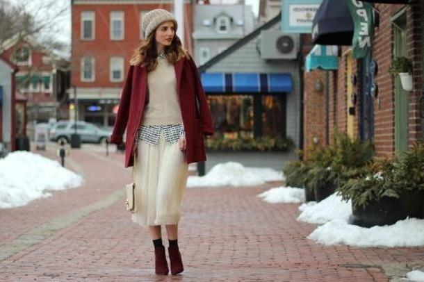 Skirt Beige Jess Style Rules Skirt Blouse Shoes Sweater Bag Coat Hat cover image