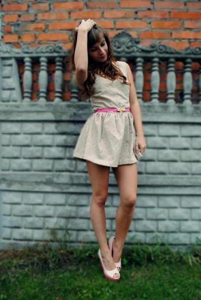 Dress Beige Dress Persunmall Summer Clothes cover image