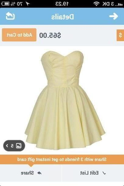 Dress Beige Dress Yellow Tube Dress Beautiful Cute Summer Adorable cover image