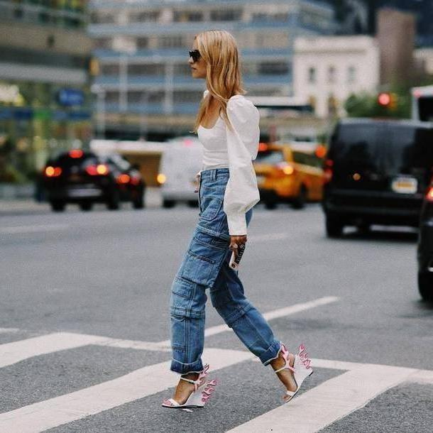 Jeans Denim Jeans Pockets Zipped Pants High Waisted Jeans Sandals White Blouse Sunglasses cover image