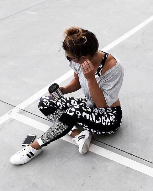 Activewear Neutrals Leggings Grey Tumblr Workout Leggings Sportswear Sports Bra Sports Leggings Sports Pants Printed Leggings Sneakers White Sneakers Activewear  Crop Tops Grey Crop cover image