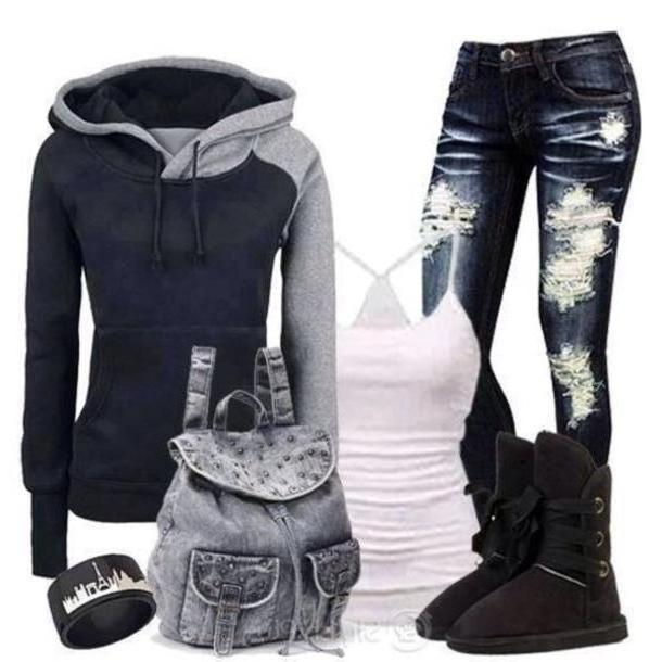 Hoodie Sweater Black Bag Grey Studs Jeans Bags Cute Bags Sweater Tank Pants Shoes Jacket Black Hoodie Basic Fashion Hat Shorts Shirt Sweater cover image