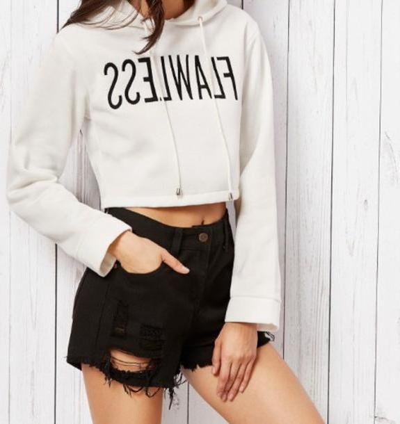 Hoodie Sweater Beige Sweater Girl Girly Girly Wishlist Crop White Black Hoodie Cropped Hoodie Flawless cover image