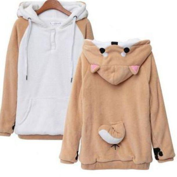 Hoodie Sweater Brown Sweater Kawaii Bear Bear Sweatshirt Kawaii Sweatshirt Bear Hoodie Brown Bear Hoodie cover image