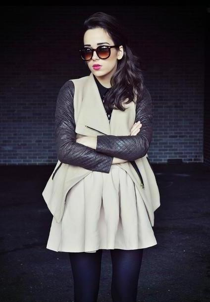 Skirt Beige Amoureuse Mode Sunglasses Skirt Jacket Shoes Jewels cover image