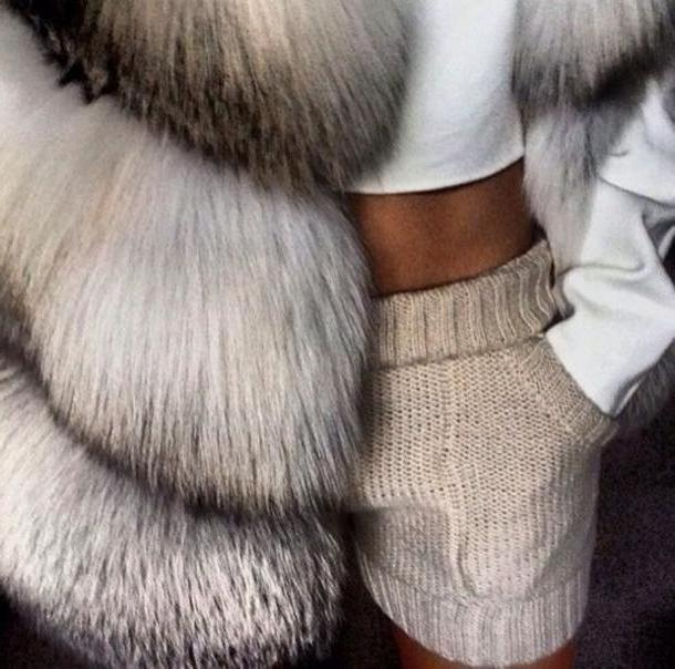 Pants Beige Shorts Taupe Fur Tanned White Crop Tops Knitted Fur Vest Girly Shirt Pants Hot Pants Knitwear Nude Coat Knit Fur Coat Cute Shorts Knit Shorts Beige Cream Cools Pants Wool Warm Blou cover image