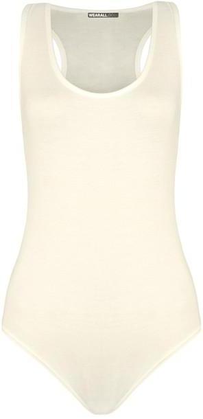 Swimwear Beige Cream Clothing Accessories Pieces Bodysuits Unitards Default Category Swimwear cover image