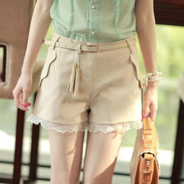 9304522183a Pants Beige Pants Fashion Clothes cover image