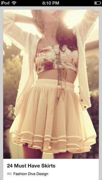 Skirt Beige Skirt T Shirt Sweater cover image