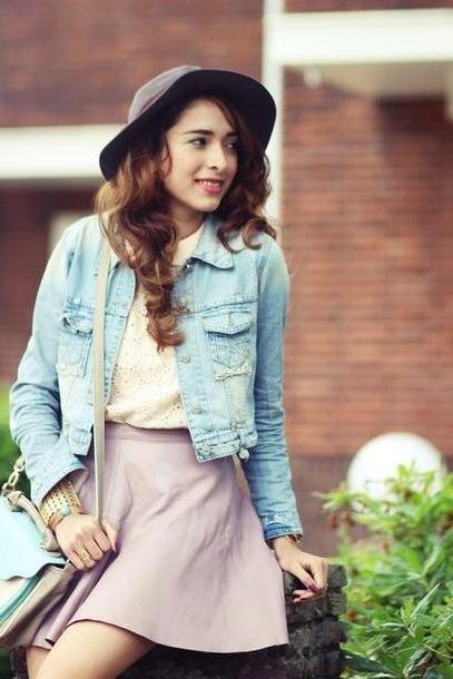 Skirt Beige Preppy Fashionist Skirt Jacket cover image