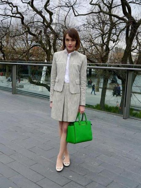 Skirt Beige La Petite Anglaise Skirt Jacket Shirt Shoes Bag cover image