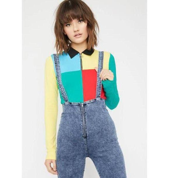 Jumpsuit Denim Jumpsuit Denim Overalls Zipper Tight Straps Washed Retro High Waisted Sleeveless Washed Suspender Pants cover image