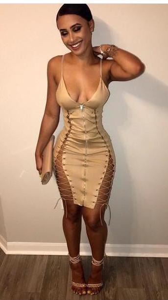 Dress Beige Dress Nude Nude Dress Lace Lace Dress Bodycon Bodycon Dress Party Dress Sey Party Dresses Sey Sey Dress Party Outfits Sey Outfit Summer Dress Summer Outfits Spring Dress Spring cover image
