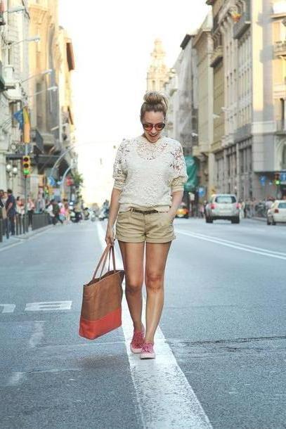 Shorts Beige Showroom Shorts T Shirt Sunglasses Bag cover image