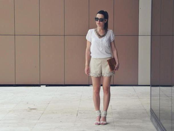 Shorts Beige Zaza S Blog Bag Shirt Shorts cover image