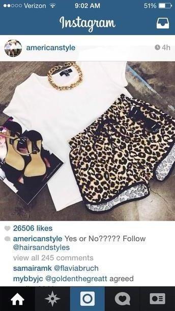 Shorts Beige Shorts Cheetah Shorts Cheetah cover image
