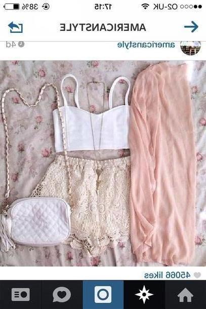 Skirt Beige Blouse Bag Skirt Jacket cover image