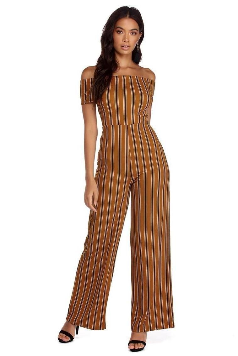Jumpsuit Stripes Jumpsuit Mustard Stripped cover image